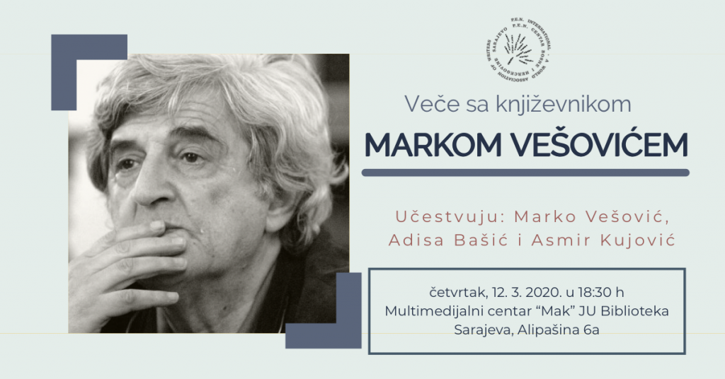 Veče sa Markom Vešovićem